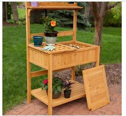Outdoor Potting Bench Work Garden Planting Table Backyard Storage Yard Home NEW