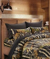 22 PC BLACK CAMO FULL SIZE SET!! COMFORTER SHEET CURTAIN CAMOUFLAGE BEDDING NEW