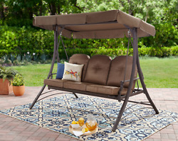 Outdoor Patio Swing Set with Canopy Cover Fold Down Furniture Garden Apartment