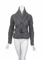 NEW Women's Burberry Brit wool & cashmere cableknit sweater jacket (with tags)