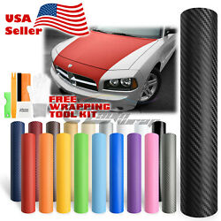 *Premium 3D Carbon Fiber Matte Textured Vinyl Wrap Sticker Decal Air Bubble Free