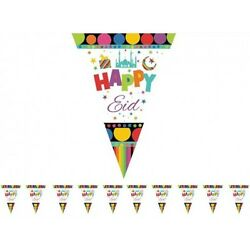 Happy Eid Triangle Flags 1 String Of 10 Triangle Flags $13.95