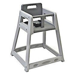 KOALA KARE PRODUCTS Plastic High Chair Unssbld Gry KB850-01-KD Gray