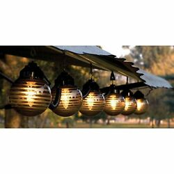 Hanging String Light Set 6-Globe RV Patio Porch Deck Awning Outdoor Lighting New