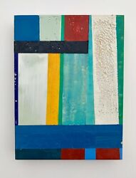 Original Encaustic painting abstract minimalist modern art contemporary decor $180.00