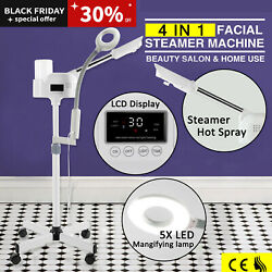 Pro 4In1 Facial Steamer 5X LED Magnifying Lamp Hot Ozone SpaSalon Beauty Machine $89.99
