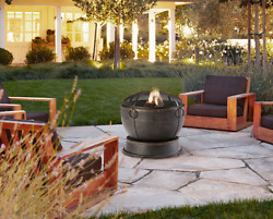 Outdoor Modern Wood Burning Fire Pit Rustic Kit for Patio Fireplace Furniture