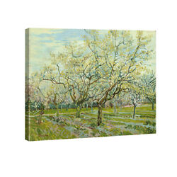 Canvas Print Van Gogh Painting Repro Wall Art Home Decor Green Trees Pic Framed $13.01