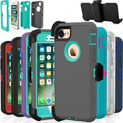Shockproof Hard Case Cover For Apple iPhone 7  8  Plus Fits Otterbox Belt Clip $7.99