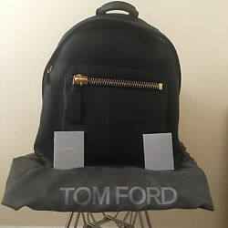 TOM FORD Buckley Backpack Grained Leather Black Laptop Bag H0250F-C92 $2950 NEW