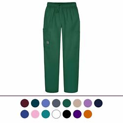 Sivvan Women's Scrubs Drawstring Cargo Pants Available in 12 Colors $13.99