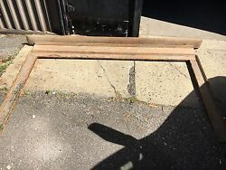 c1830 pine fire place mantle scrapped to original surface Maine origin 103