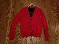 $865 Givenchy Men's Red Sweater