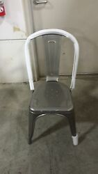 lot of 20ea AAA Furniture  #318 solid rugged outdoor metal chair gunmetal gray