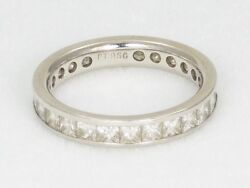 $6700 Platinum Eternity Band w 2ct GVS Channel Set Princess Cut Diamonds sz 6