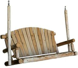 Lakeland Mills Porch Patio Swing 5 ft Outdoor Furniture Bench Wood Cover Sturdy