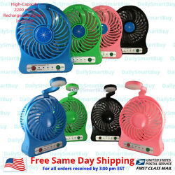Portable 2 in 1 Mini USB Fan with LED light with 2200 mAh Rechargeable Battery $11.99
