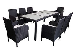 outdoor patio rattan wicker furniture dining table chair set7pcs9pcs cushioned