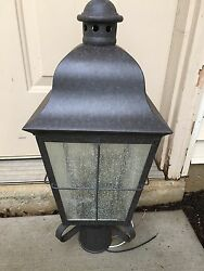 Colonial Post Two Light Outdoor Mount Lantern (Free shipping)