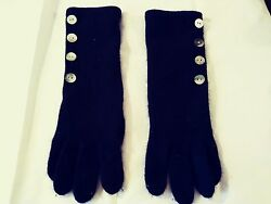 MAX STUDIO BLACK LONG CASHMERE GLOVES