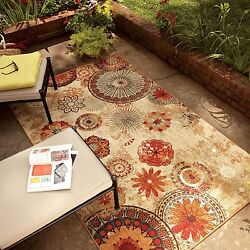 Large Indoor Outdoor Area Rugs Multi Colors 5 x 8  Medallion Floral Carpet NEW