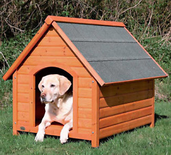 Wooden Dog House Kit for Outdoor Extra Large XXL Dog Crate Trixie Log Cabin Home