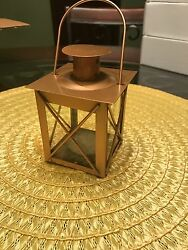 6 gold metal lantern with candle wedding decoration $29.99