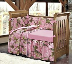 Camo Crib Bedding Sets For Girls Pink Camouflage Woodsy Shower Gift Baby Girl