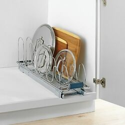 Real Simple Roll-Out Lid kitchen Organizer storage holder pan tray cutting board