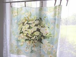 Vintage Jacqmar Scarf Daisies Flowers French Floral Arnold Lever Design