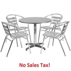 Outdoor Table Set Dining Chairs Chat Patio Bistro Garden Aluminum Furniture