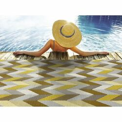 Outdoor Area Rugs For Patios 6 x 9 Abstract Large Waterproof Accent Carpet NEW
