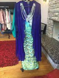 Zahra Ahmed Party Wear Long Dress Pakistani Designer $55.00