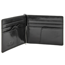 Slim Money Clip Wallet Italian Leather Primo Mens Accessories