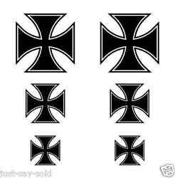 German Maltese Iron Cross Vinyl Decals Set of 6 Stickers For RC Planes Models $10.00