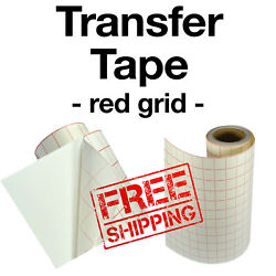 Red grid transfer Paper Tape for vinyl crafts Hobby roll 12