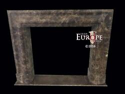 BEAUTIFUL HAND CARVED COFFEE MARBLE MODERN DESIGNER FIREPLACE MANTEL - MBT67