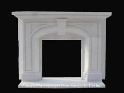 BEAUTIFUL HAND CARVED MARBLE GOTHIC ESTATE DESIGNER FIREPLACE MANTEL - MNTL16