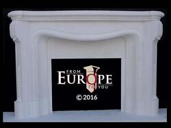 BEAUTIFUL HAND CARVED SOLID MARBLE CLASSICAL EUROPEAN DESIGN FIREPLACE MANTEL