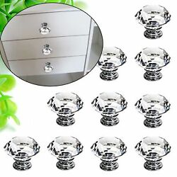 5003020 Crystal Glass Cabinet Knob Diamond Shape 30mm Drawer Handle Pull AK