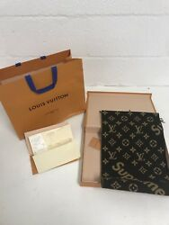 Louis Vuitton X Supreme Monogram Brown Cashmere Scarf MP1891 Extremely Limited