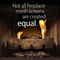 Fireplace Mesh Screen Curtain. 32' High (9-32). Includes Two Panels Each 24'