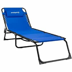 Lounge Chairs Kingcamp Reclining Positions Patio Portable Folding Chaise Bed For