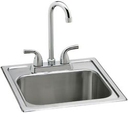 Single Bowl Sink Faucet Top Mount Stainless Steel Minimalist Compact Small Mini $142.50