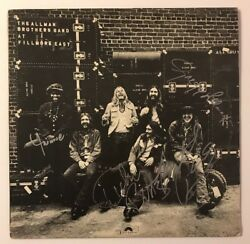 The Allman Brothers Signed At Fillmore East X4  Vinyl LP JSA LOA # Z08606 Auto