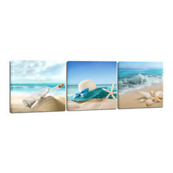 Canvas Prints Picture Painting Photo Wall Art Home Room Decor Sea Beach Blue