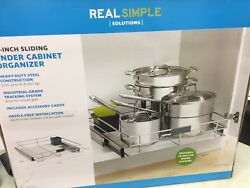 Real Simple Sliding Under-Cabinet Organizer 17 Inch