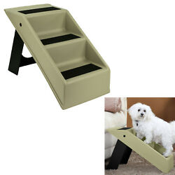 Pet Dog Stairs 3 Step Portable Folding Plastic Anti-Slip Easy-Up Sure Grip Steps $28.59