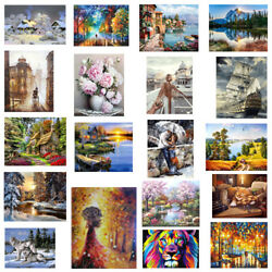 DIY Oil Painting By Numbers Kits Paint On Canvas For Home Wall Art Picture 40x50