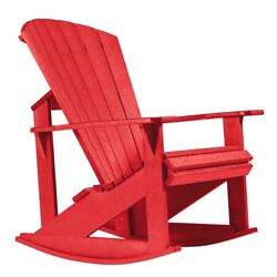 CR Plastic Products Generations Adirondack Rocking Chair C04-01 Red